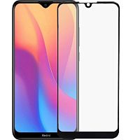 фото товара Защитное стекло Full Glue Ceramics Anti-shock Glass Xiaomi Redmi 8/8A Black (тех.пак)
