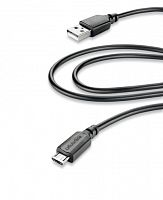 фото товара Дата кабель Cellularline microUSB 2m black (USBDATACMICROUSB2M)