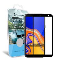 фото товара Защитное стекло MakeFuture Samsung J4 Plus/J6 Plus (2018) Full Cover (full glue) Black